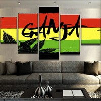 Marijuana Flag Canvas Set