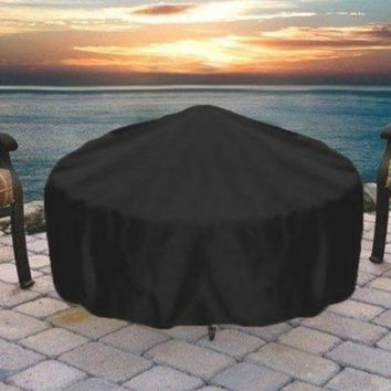 "48"" Heavy Duty Black Round Fire Pit Cover"