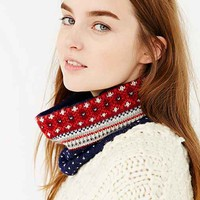 emiLime Fair Isle Neckwarmer Scarf- Navy One