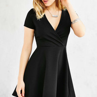 Kimchi Blue Textured Surplice-Front Dress - Urban Outfitters
