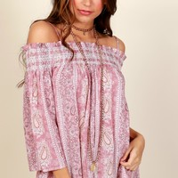 Far Out Print Top Pink