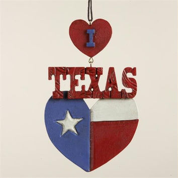 "12 Christmas Ornaments - Reads  "" I Love Texas """
