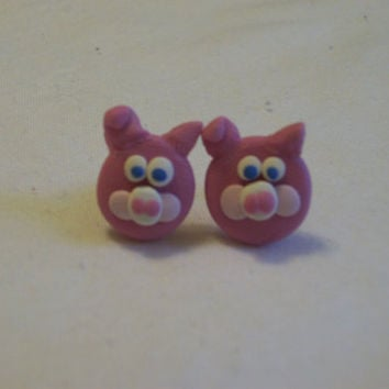 Pig Earrings Polymer Clay Cute by PreciousBowtique on Etsy