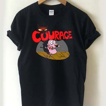 Courage the Cowardly dog T-shirt Men, Women, Youth and Toddler
