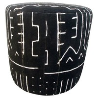 African Tribal Mud Cloth Ottoman