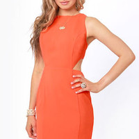 Aryn K Mod to Last Orange Cutout Dress