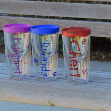 vino2go cup. acrylic cup, plastic wine cup, stocking stuffer, secret santa gift, personalized cup, wine 2 go cup, bachelorette party cup