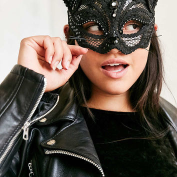 Lace Black Cat Mask - Urban Outfitters