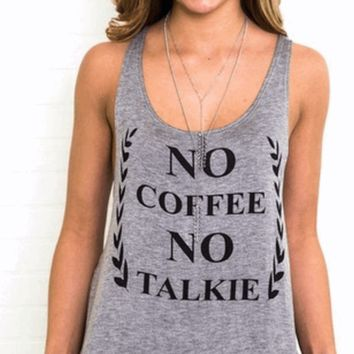 No Coffee No Talkie Tank | HGT84