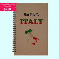 Our Trip To Italy - Journal, Book, Custom Journal, Sketchbook, Scrapbook, Extra-Heavyweight Covers