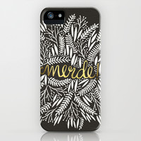 Pardon My French – Gold on Black iPhone & iPod Case by Cat Coquillette
