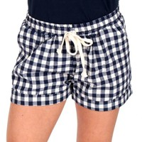 Days Go By Navy And White Gingham Shorts | Monday Dress Boutique