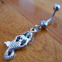 Belly button ring - Mermaid Belly Button Ring