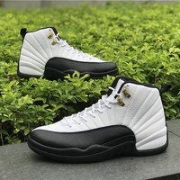 Air Jordan Retro 12 Taxi Basketball Shoes Men 12s Sneakers