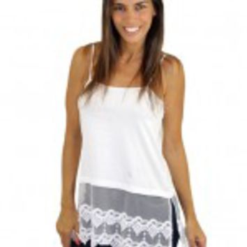 White Top Extender With Lace