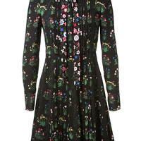 VALENTINO FLOWER PRINT SILK GEORGETTE DRESS