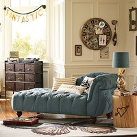Denim Chaise Lounge Room