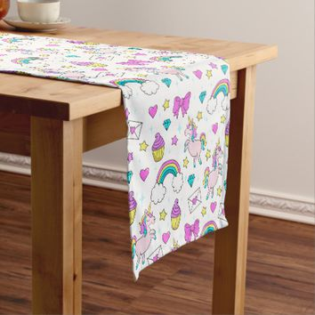 Cute Unicorn Pattern Short Table Runner