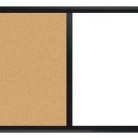 "Board Dudes 24"" x 36"" Black Painted Magnetic Dry Erase/Cork Combo Board (CYG01)"