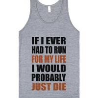 Run and Die-Unisex Athletic Grey Tank
