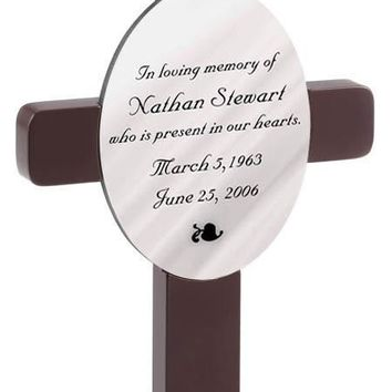 Personalized Memorial Cross - Heaven