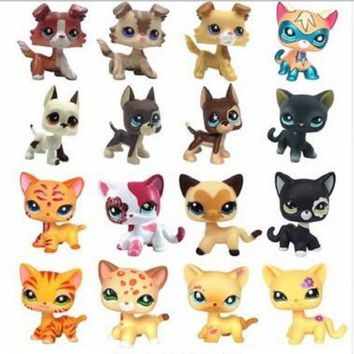 LPS pet shop toy cat really collects standing 41 kinds of short hair cat tiger cat powder cat big Dane sausage dog shepherd toy