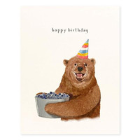 Berry Bear Birthday Card