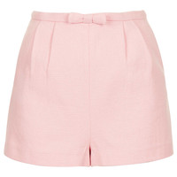 Pink Bow Front Short - Topshop USA