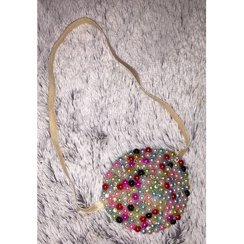 Nude/Skintone Candy Crush Pearls & Diamond Crystal Bedazzled Eye Patch