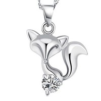 Fashion Fox Pendant Without Chain Color Silver Plated Charming Jewelry