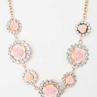 Urban Outfitters - Rhinestone & Roses Necklace