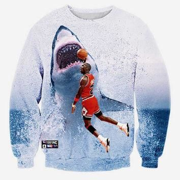 Michael Jordan Tribute Crew Neck Sweatshirt Men & Women Shark Bape Jordans 23 Chicago