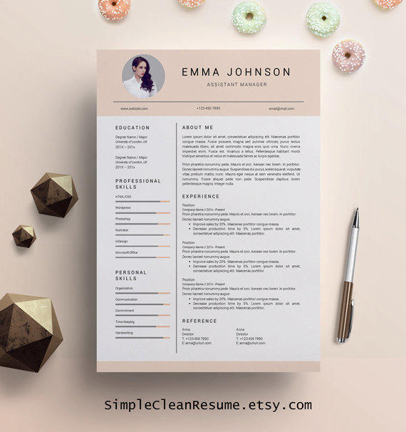 creative resume template  creative resume from simplecleanresume