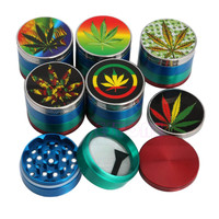 4 Parts Layers 50mm Maple Herbal Herb Weed Tobacco Grinder Smoke Cigar Crusher