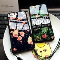 Floral Art TPU Soft Case Phone Shell  For Iphone 5 5s 6 6s 6Plus 6sPlus