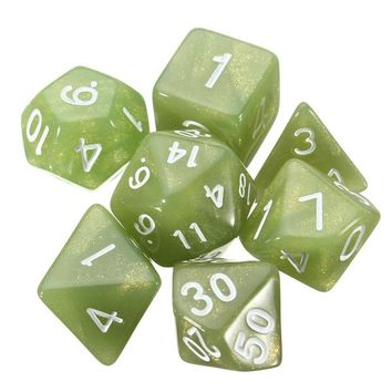 28pcs Polyhedral Digital Dice Set 4 Colors 4D 6D 8D 10D 12D 20D Acrylic With 4 Bag
