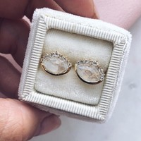 Anni Moonstone Stud Earrings