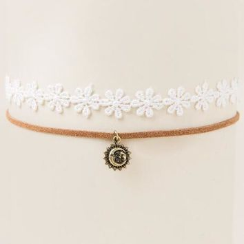 Kristin Crochet and Suede Choker