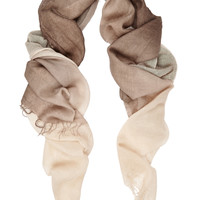 Chan Luu - Ombré cashmere and silk-blend scarf