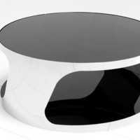www.roomservicestore.com - Modern Round Chrome Coffee Table