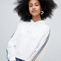 Monki Rainbow Print Hoodie at asos.com