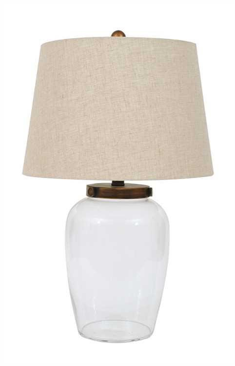 glass fillable table lamp from nine space. Black Bedroom Furniture Sets. Home Design Ideas