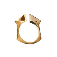 Jennifer Fisher Square Peak Ring - Gold Ring  - ShopBAZAAR