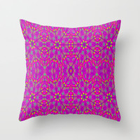Happy Colors Throw Pillow by 2sweet4words