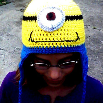 Children's Despicable Me Minions Hat by yankeerose on Etsy