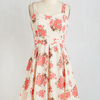 ModCloth Vintage Inspired Mid-length Sleeveless Fit & Flare Wait a Prosecco Dress