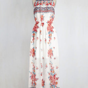 Between Me and Utopia Dress in Floral Borders