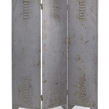 Asher Transitional Room Divider/Screen Aged Gunmetal