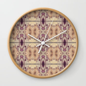 Vintage Inspired Pattern Design Wall Clock by Sheila Wenzel
