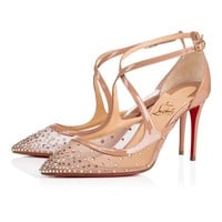 Christian Louboutin Cl Twistissima Strass Version Light Silk Strass 18s Bridal 1180531f065 - Best Online Sale